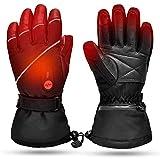 SAV Beheizte Handschuhe,Wiederaufladbarem Lithium Lonen Akku Skifahren Fausthandschuhe für Herren und Damen,Skifahren,Jagen,Angeln,Reiten,Radfahren,Camping,Wandern, Motorradfahren Handwärmer