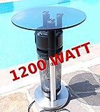 Edler Beheizbarer Tisch Bistrotisch Heiztisch Heizstrahler elektrisch 'Modell 2008' 1200Watt von AS-S